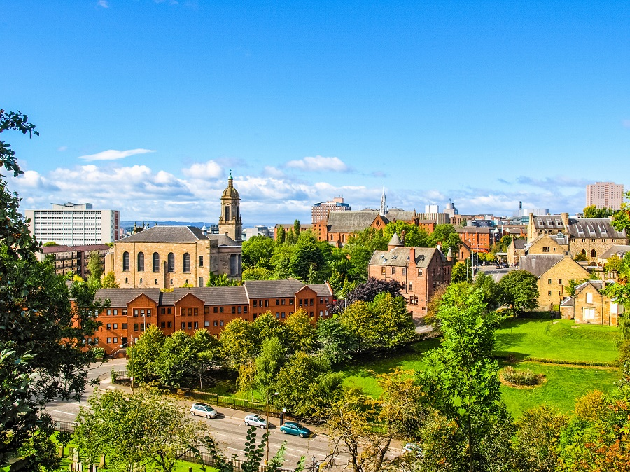 This view over verdant Glasgow is one of the most iconic in Britain, with the brick buildings poking out amongst the trees, but there's much more to see in this brilliantly British city.
