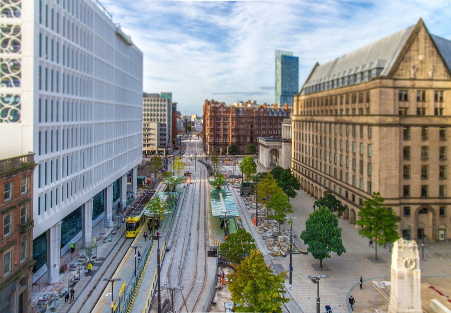 This is the view which greets you as you get to Manchester by train; it's easy to zip around the city on the busses and trams which go to every corner of this bustling British location.