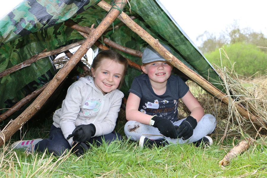 During half term Wicken Fen is organising a range of fun activities for children, your kids could learn to build a shelter like these children have done.