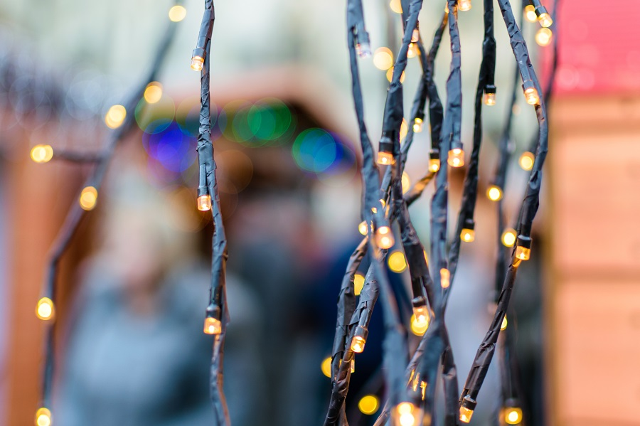 The sparkly lights which adorn the traditional wooden chalet style stalls at the Exeter Christmas Market give it a perfectly festive feel.