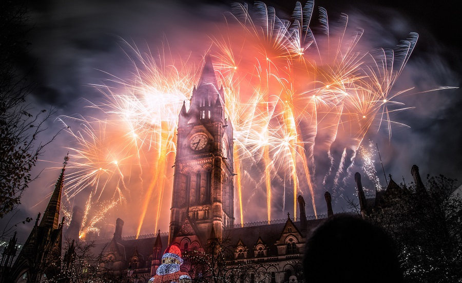 The fireworks at the Manchester Christmas Market are particularly impressive, lighting up the skies above the city and giving the light up Santa an extra sparkle.