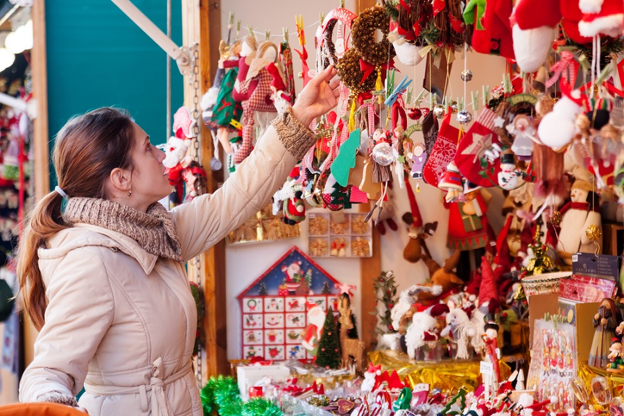 Pick up a festive gift for your loved ones from the beautiful array at the Leeds Christmas Market