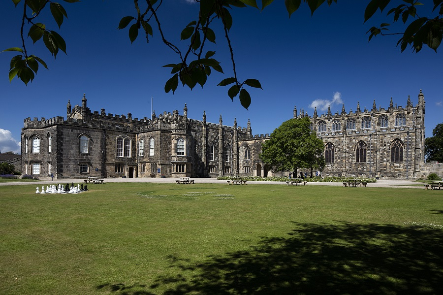 A view of Auckland Castle in Darlington on a sunny day
