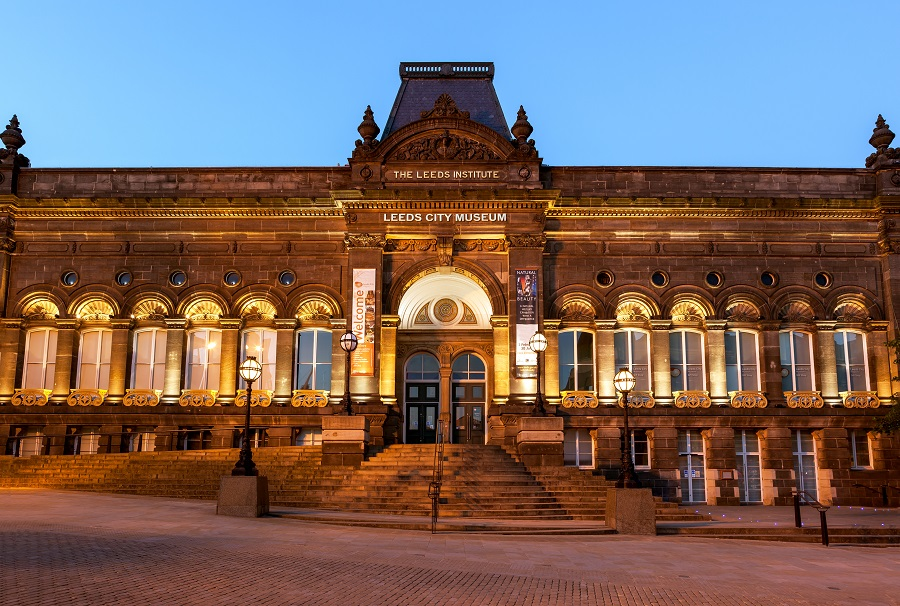 This beautiful stone building contains the Leeds City Museum, perfect for exploring local, world and natural history.