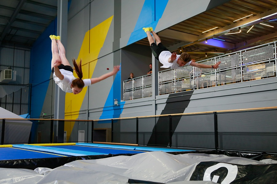 Bounce around with the kids at the Oxygen Freejumping Trampoline Park in Southampton on a rainy day