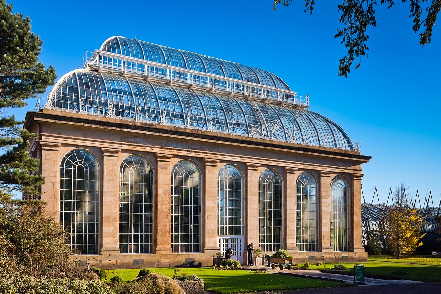 The Victorian Palm House at Edinburgh Botanic Gardens