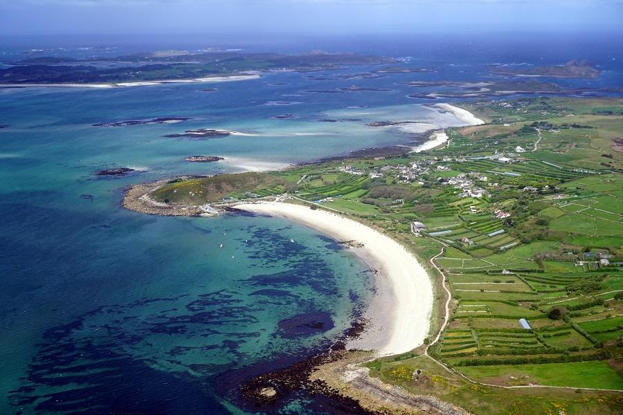 Discover the blue seas, white sandy beaches and green landscapes of the Isles of Scilly Area of Outstanding Natural Beauty.