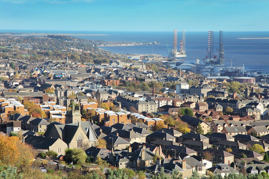 The city of Dundee, with its beautiful seaside location is well worth a day trip by train.
