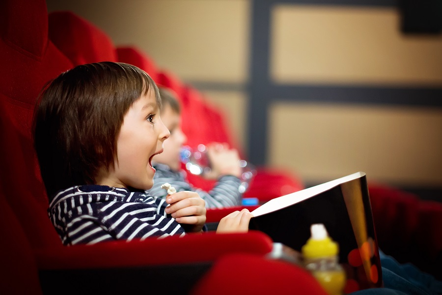 Enjoy a trip to the cinema like these kids on a day trip to Leamington Spa.