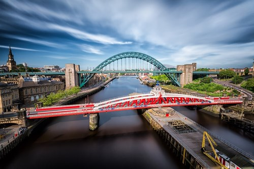 Bridges over the River Tyne in Newcastle.