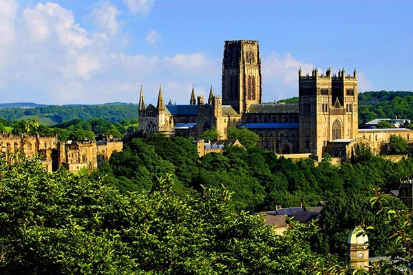 Durham Cathedral, seen here bathed in sunlight, is a cultural and historical delight.