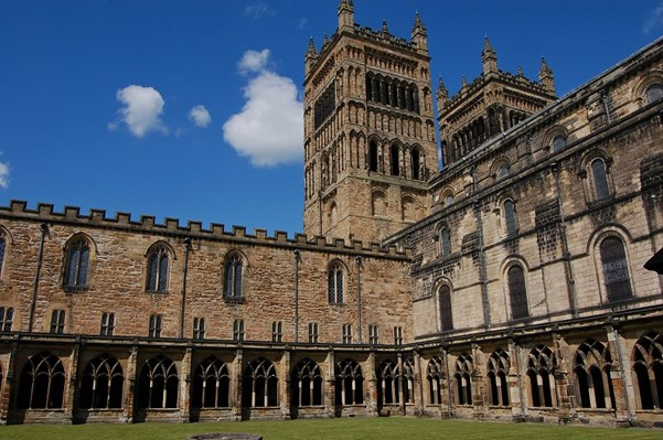 The cloister at Durham cathedral is host to both history and a community of bats.