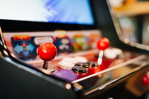 Arcade games at Kongs Bar are a great date activity in Birmingham.