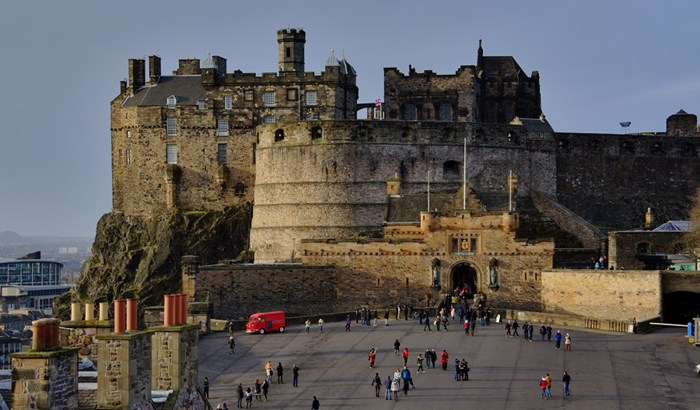 Edinburgh Castle is one of the UK's best attractions.