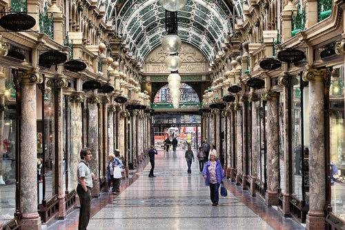 Window shopping in Leeds' Victoria Arcade is one of the best free things to do in Leeds.