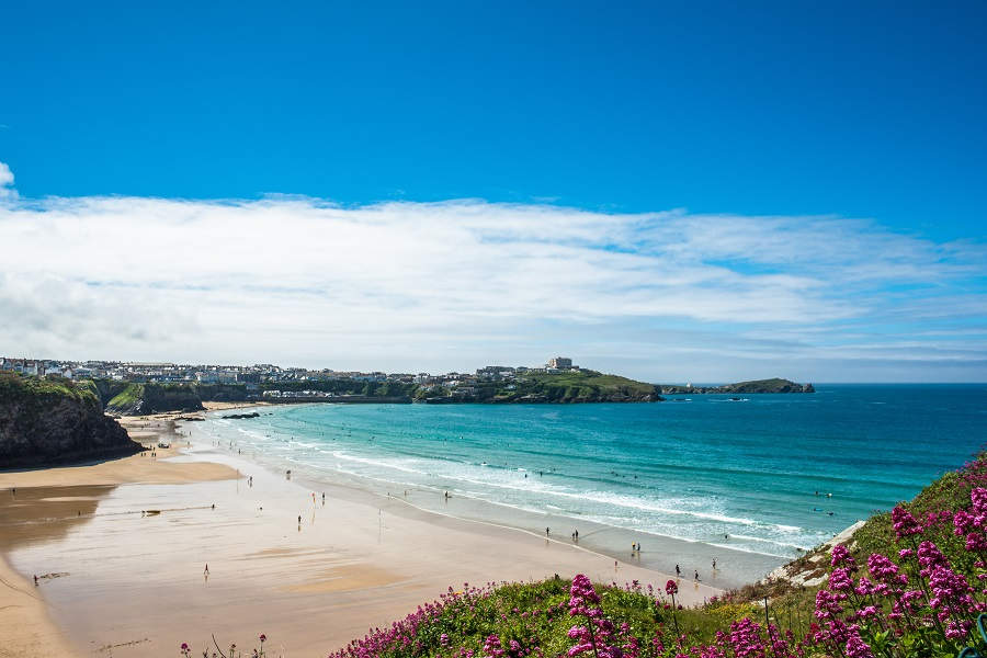 Newquay has many amazing beaches which are a top attraction.